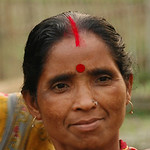 Indian Woman with Red Tikka - West Bengal, India