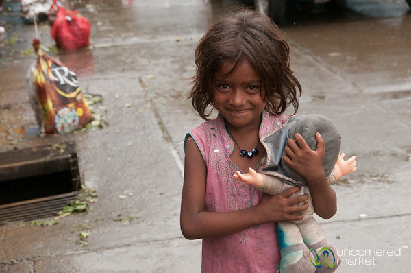 Young Indian Girl Near Dadar Market - Mumbai, India