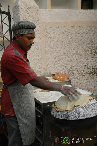 Cooking the Roti - Mumbai, India