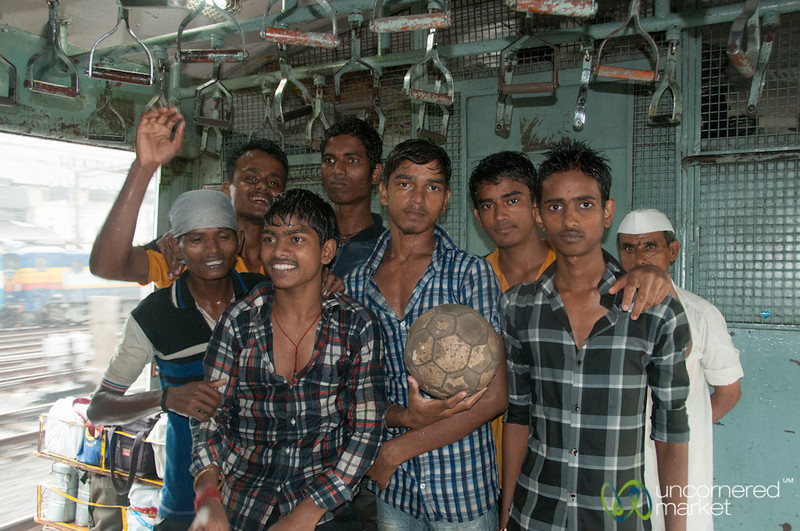 Mumbai Guys on the Mumbai Train - India