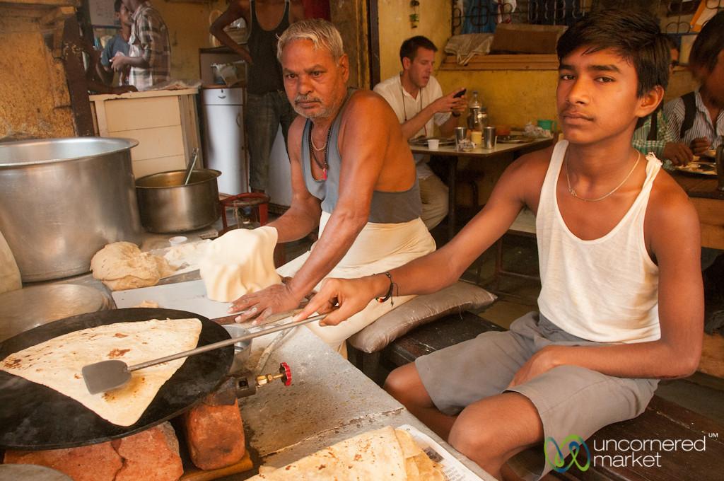 Making Parathas for Breakfast at Khar Station, Mumbai