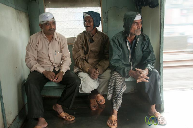 Dabbawalas on the Mumbai Train