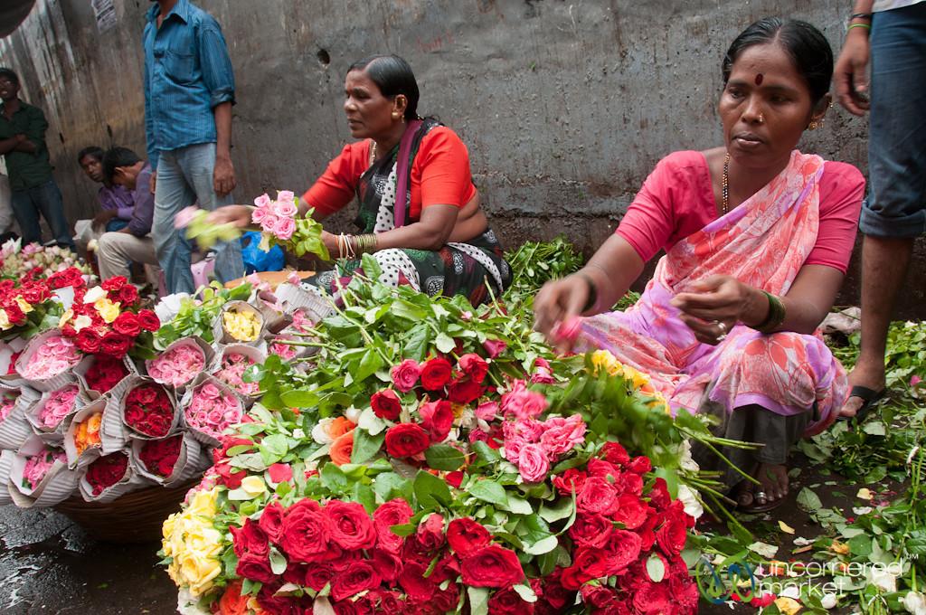 Dadar Flower Market, Piles of Roses - Mumbai, India