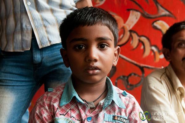Young Indian Boy in Dadar - Mumbai, India