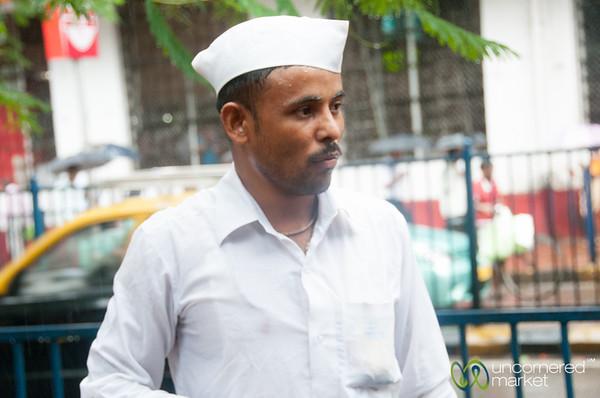 Dabbawala in Mumbai Monsoon - India