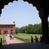 Inside the Red Fort in New Delhi.