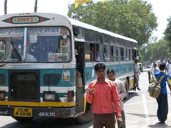 A bus in New Delhi.