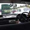 Inside a taxi in New Delhi.