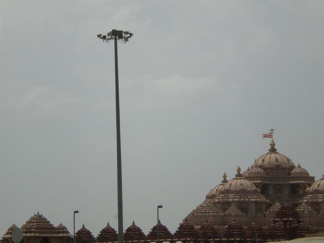 Akshardham Temple in from a distance.