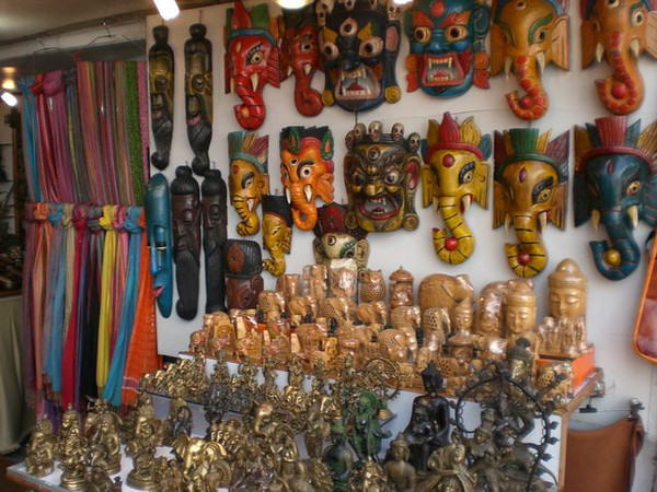 Souvenirs for sale outside of the Red Fort in New Delhi.