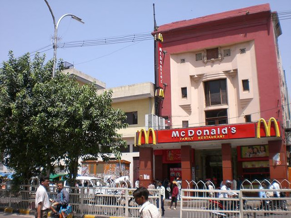 McDonald's in Chandni Chowk Market in New Delhi.