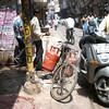 A bike in New Delhi.