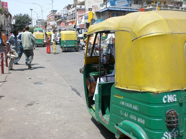 A auto-rickshaw in New Delhi, India.
