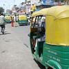 A auto-rickshaw in New Delhi, India.