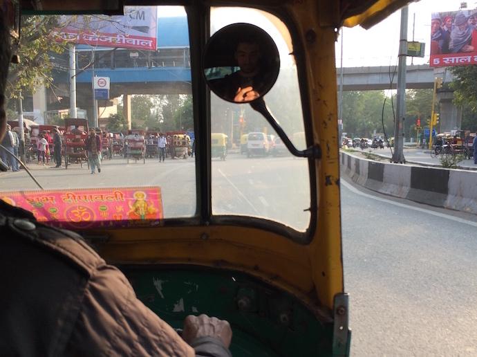 india rickshaw selfie