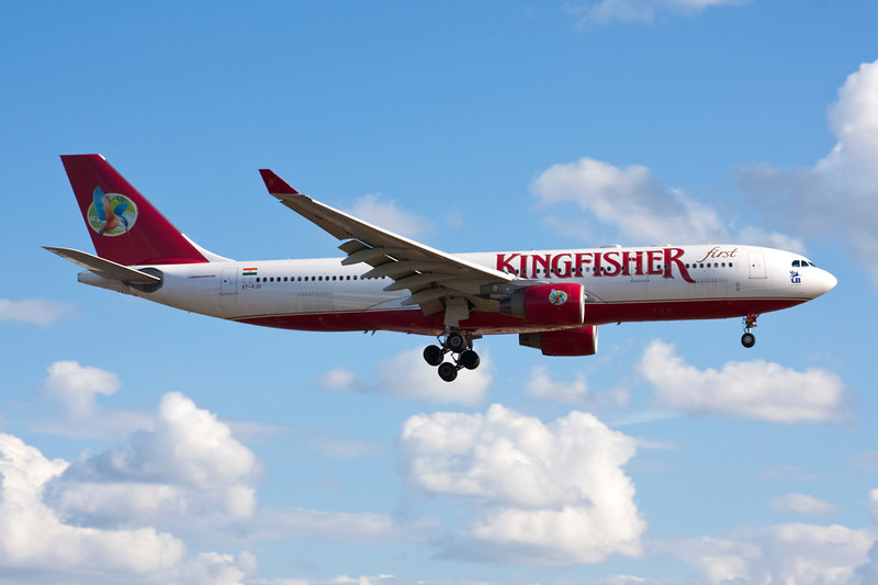 "VT-VJO Airbus A330-223 ""Kingfisher Airlines"" c/n 939 Heathrow/EGLL/LHR 17-07-10"