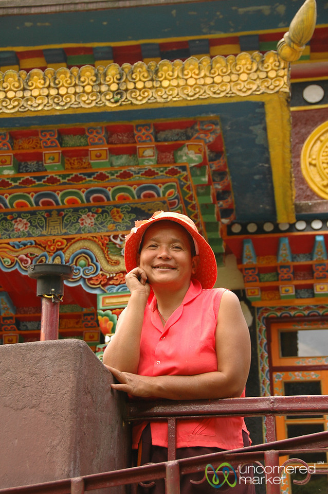 Caretaker of the Gompa - Lake Khecheopalri, Sikkim