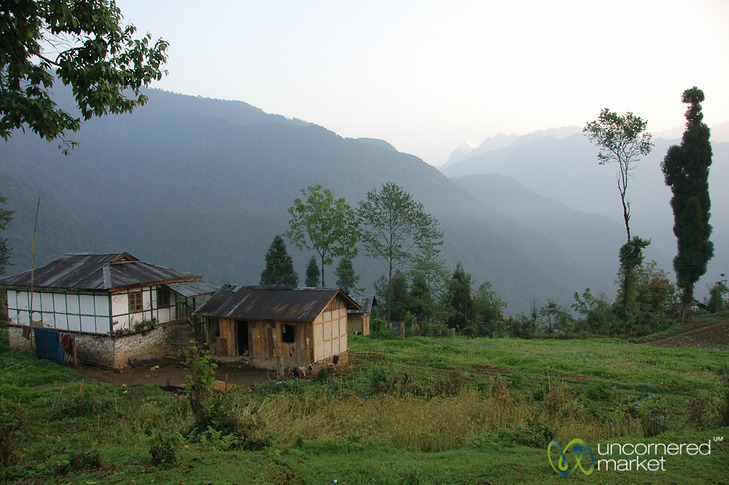 Day Breaks in the Village Above Lake Khecheopalri in Sikkim