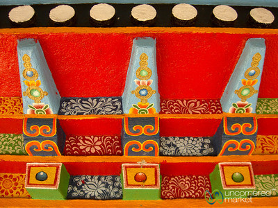 Colorful Buddhist Painting & Design - Lake Khecheopalri, Sikkim