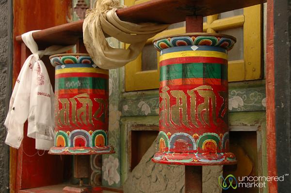 Colorful Prayer Wheels - Pemayangtse Gompa, Sikkim
