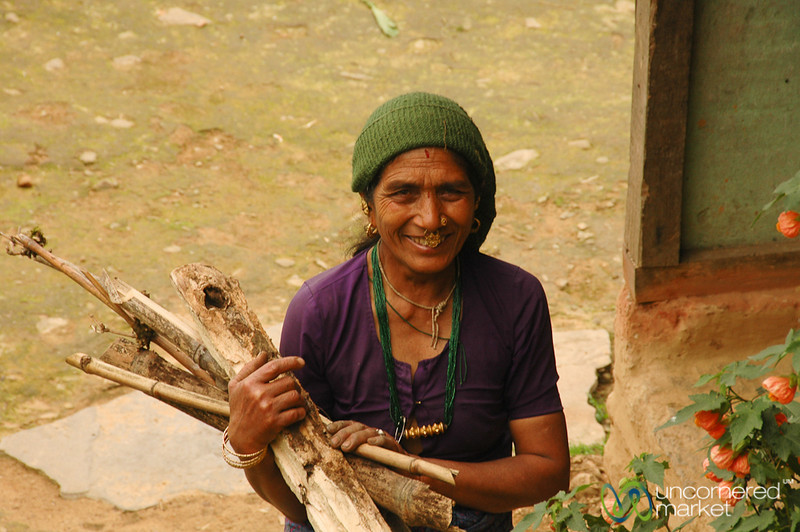 Gathering Firewood - Sikkim