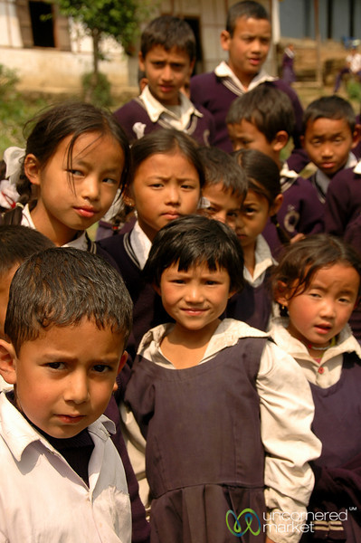 Village School on a Break - Sikkim