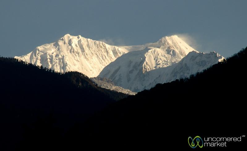 View of Mt. Khangchendzonga - Yuksom, Sikkim