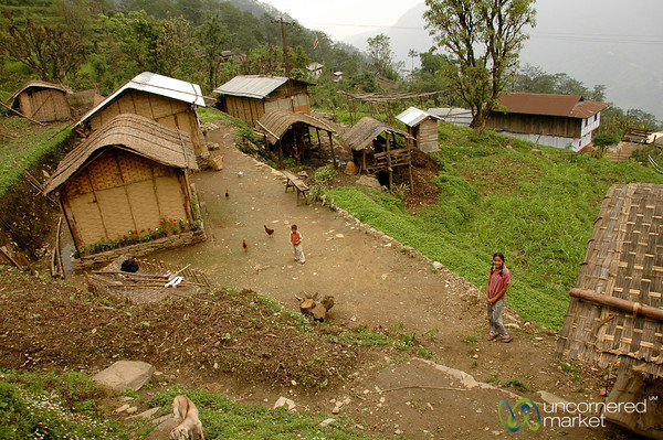 View of a Village in Sikkim
