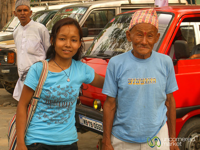 Fellow Passenger with her Father - Sikkim