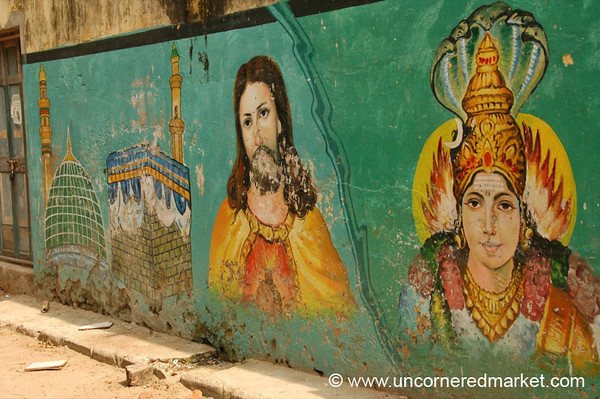 Religious Unity Graffiti - Chennai, India