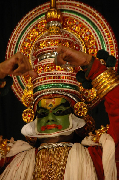 Kathakali Dancer in Costume - Kerala, India