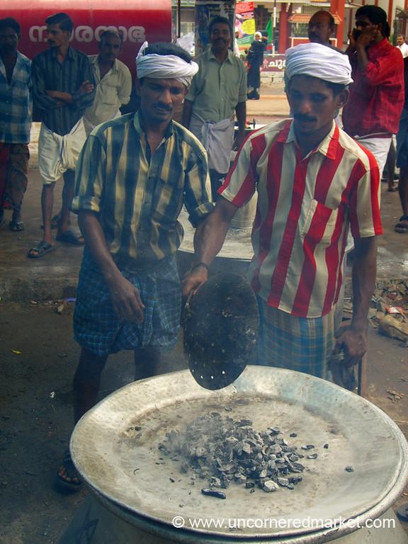 Charcoal for the Biryani - Kollam, India