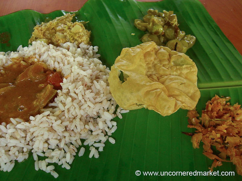 Lunch in Kerala's Backwaters - Kerala Backwaters, India