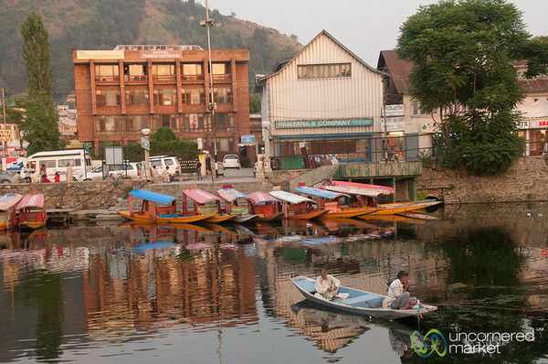 Dal Lake, Late Afternoon Reflections - Srinagar, Kashmir, India