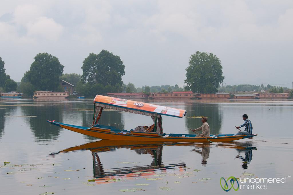 Srinagar Shikara (Boat) on Nagin Lake - Kashmir, India