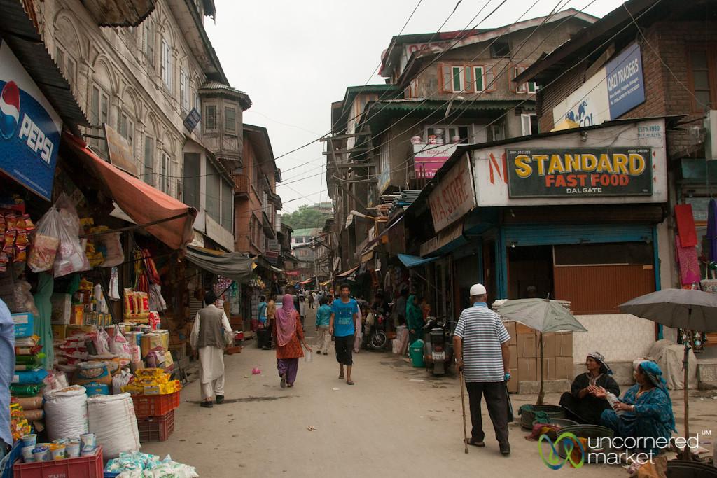 Srinagar Streets Near Dal Ghat - Kashmir, India