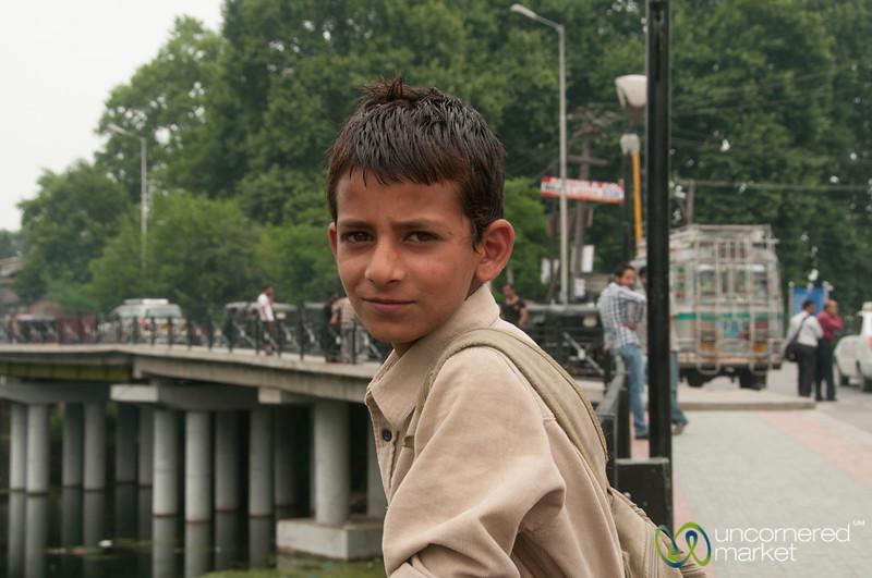 Kashmiri Boy in Srinagar, India