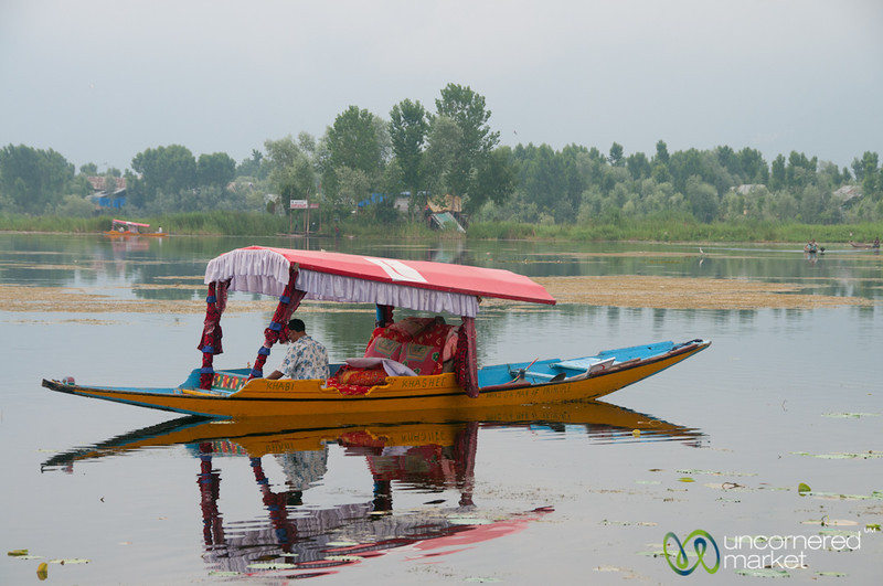 Srinagar Shikara (Boat) on Nagin Lake - Kashmir, India