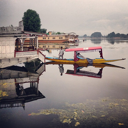 Early morning water taxi in the mist of Nagin Lake -- Srinagar #Kashmir