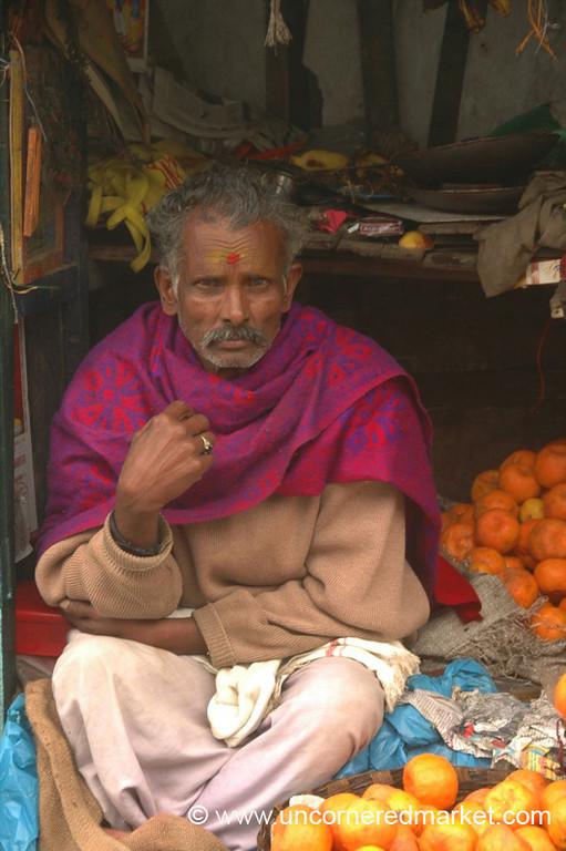 Fruit Vendor in Kodaikanal, India