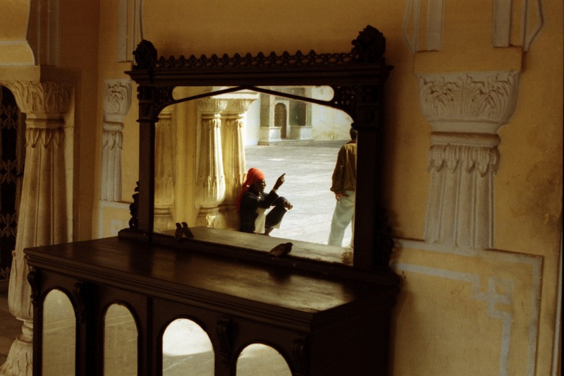 Reflections at Jaipur's City Palace, India