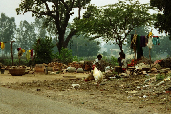 Everyday Life at the Side of the Road - Khajuraho, India