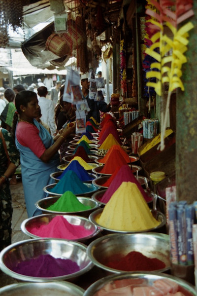 Powdered Dyes at the Market - Mysore, India