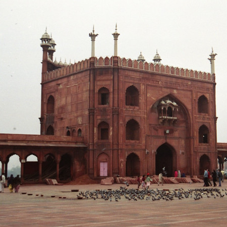 Courtyard of Friday Mosque, Jama Masjid - Delhi, India