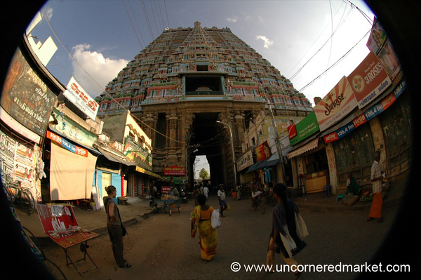 Sri Ranganathaswamy Temple Fisheye