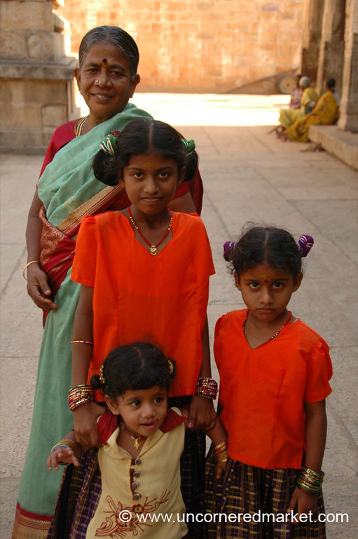 Grandma and Her Girls: Trichy, India