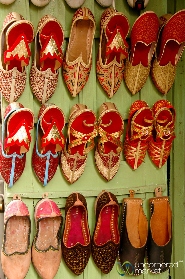 Handmade Shoes at the Market in Udaipur, India