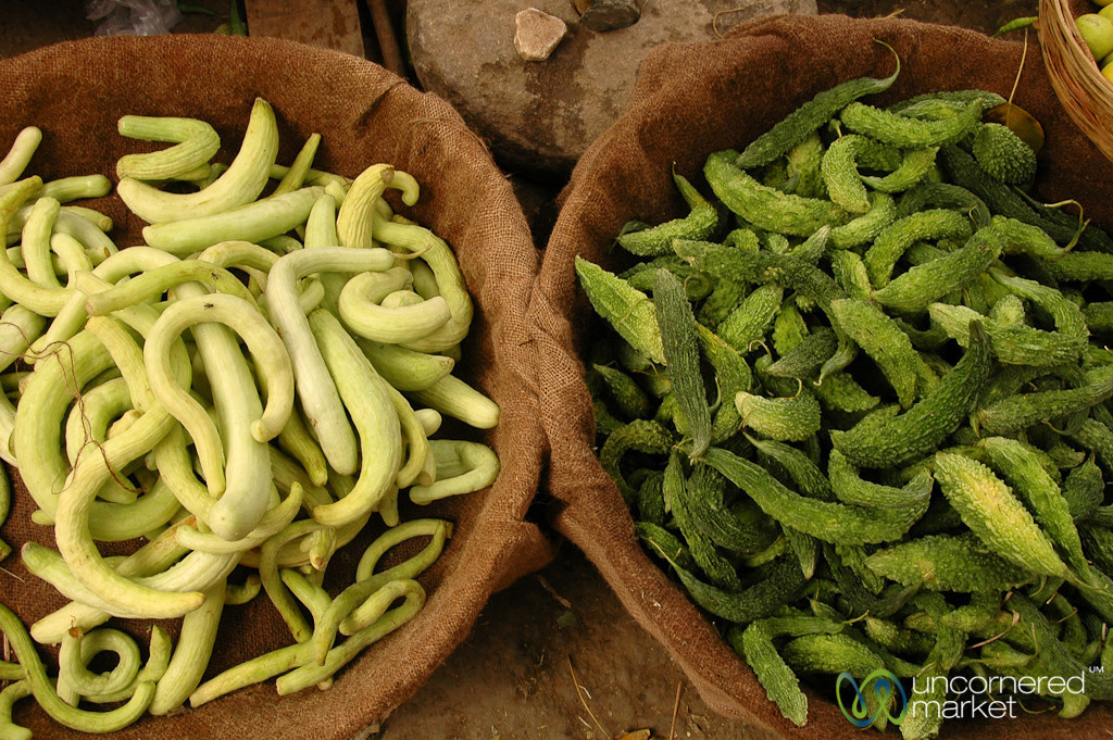 Cucumber-Like Vegetables at the Makret in Udaipur, India