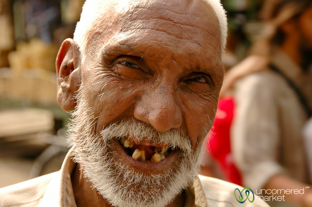 A Toothy Grin at the Market - Udaipur, India