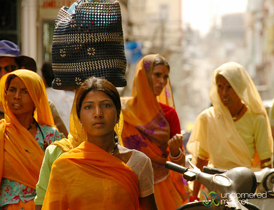 Street Scene in Udaipur's Market - Rajsasthan, India